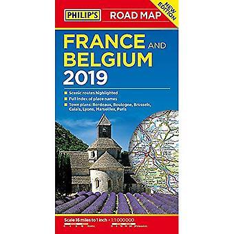 Mapa drogowa Francji i Belgii Filipa