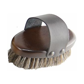 HySHINE Deluxe Horse Hair Wooden Body Brush