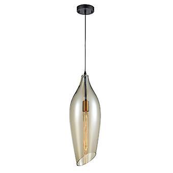 FrankLite Taper grote bleke Amber glas hoek gesneden glas hanger