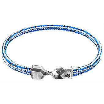 Anchor and Crew Cromer Dash Rope Bracelet - Grey/White