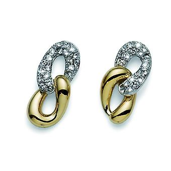 Oliver Weber Post boucle d'oreille or rang/Rhodium cristal