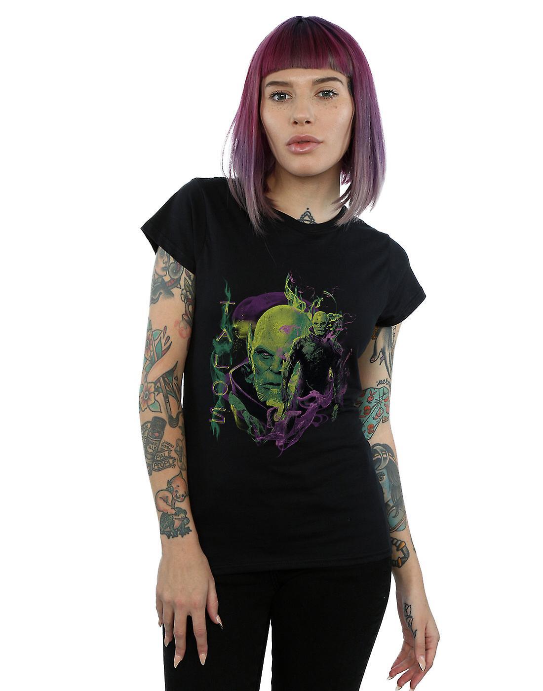 Marvel Women's Captain Marvel Talos Smoke T-Shirt