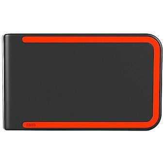 dosh RFID Luxe Wallet - Grey/Turismo Orange