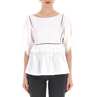 Semi-couture S9pm02a010 Women's White Cotton T-shirt