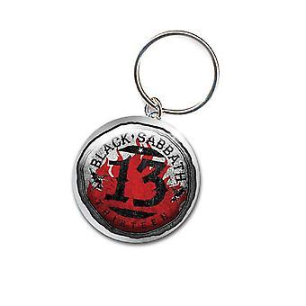 Black Sabbath Keyring Keychain 13 Flame Circle band logo new Official metal