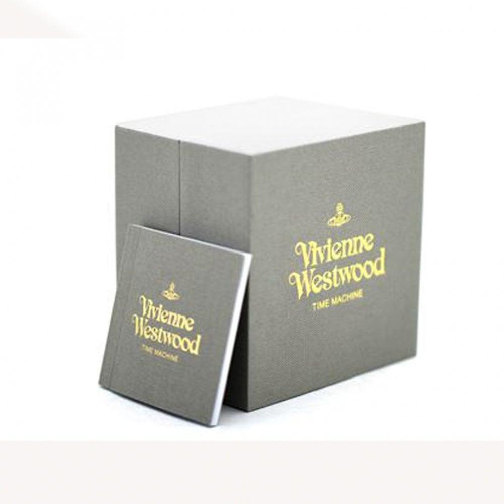 Vivienne Westwood Vv192nvnv Conduit Navy Blue & Gold Leather Watch