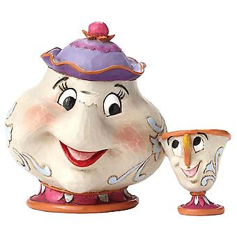 Beauty and The Beast Mrs. Potts and Chip A Mothers Love Figurine
