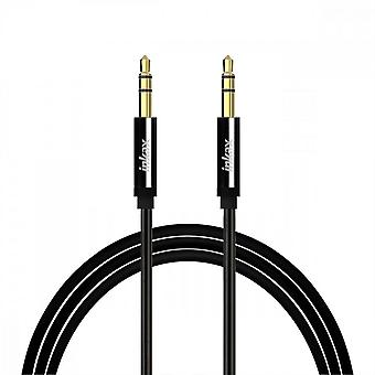 Inkax Auxiliary Audio Cable Jack 3.5mm Male Male Quality Sound 1m - Black