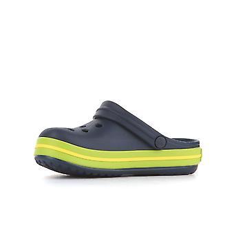 Crocs Crocband Clog K Navyvolt Vert 2045374K6 chaussures universelles pour bébés d'été