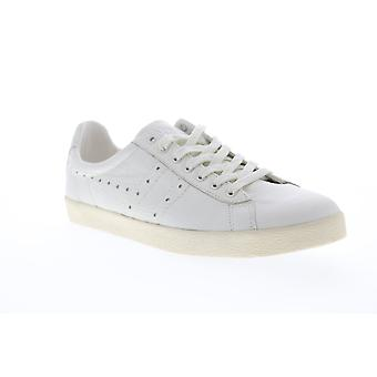 Gola Tourist Leather  Mens White Retro Low Top Lifestyle Sneakers Shoes