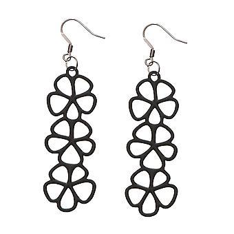Batucada Skin Jewellery Batucada Black Sweet Flowers Earrings 8-01-03-04-Black