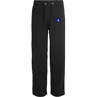 1st The Queens Dragoon Guards TRF - Licensed British Army Embroidered Open Hem Sweatpants / Jogging Bottoms