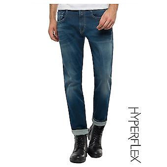 Replay Jeans Hyperflex Anbass reguliere slim fit jeans (medium donker)