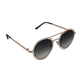 Sunglasses UV 400 Round gold ZwartHL210_5