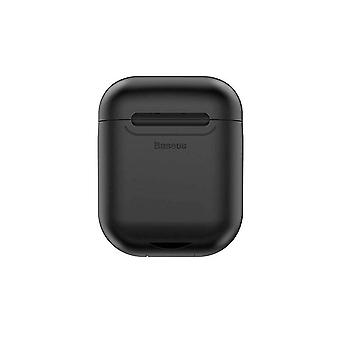 Airpods case with wireless charging - black