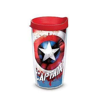 Capitão América Wrap tumbler com tampa de viagem 16 oz Tervis® tumbler