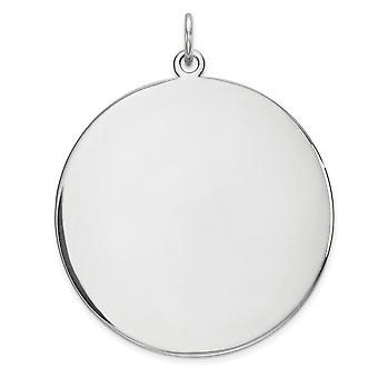 925 sterling silver polerad Gravable Gravabel rund Disc charm-4,8 gram