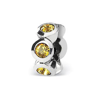 925 Sterling Silber poliert Reflexionen Nov Kristall Perle Anhänger Anhänger Halskette Schmuck Geschenke für Frauen