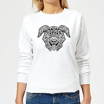 Mr Pickles Pattern Face Women-apos;s Sweatshirt - Blanc