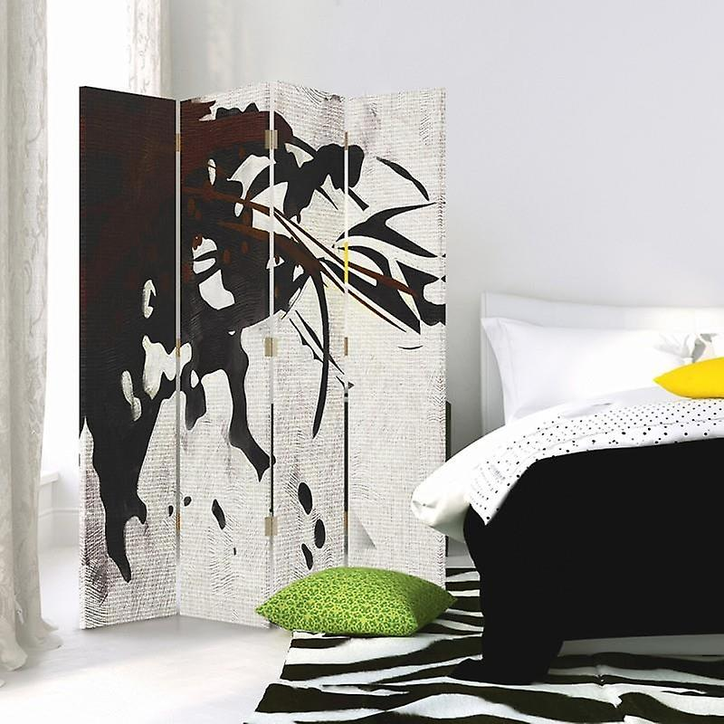 Diviseur de chambre, 4 panneaux, toile, Diagonal de flou