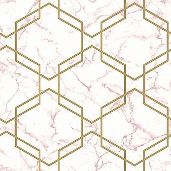 Marble Hexagon Geo Wallpaper Holden