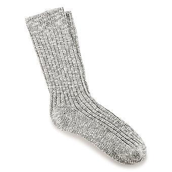 Birkenstock Herre bomulds sokker slub 1002533 grå hvid