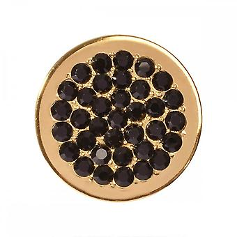 Nikki Lissoni Black Dots Small Gold Plated Coin C1282GS