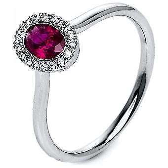 Drágakövek Ring Diamonds 0,08 CT. Ruby 0,54 CT. Méret 54