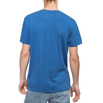 Wrangler hombres verano logotipo manga corta Crew Cuello Camiseta Camiseta - Azul Federal