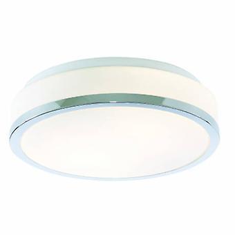 2 ljus badrum Flush taklampa krom, opal Ip44