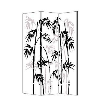 "1"" x 48"" x 72"" Multi Color Wood Canvas Bamboo Leaf  Screen"