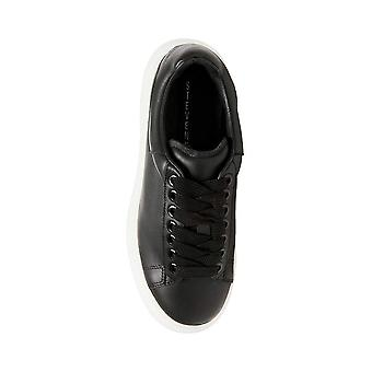 Steven by Steve Madden Womens Glazed Leather Low Top Lace Up Fashion Sneakers