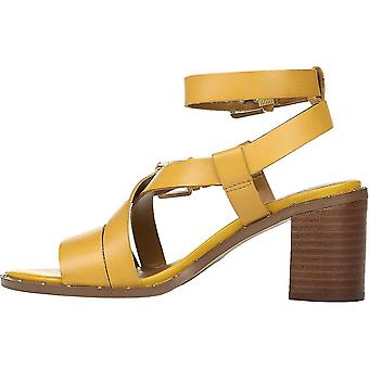 Franco Sarto Womens Halina läder öppen tå casual ankel rem sandaler