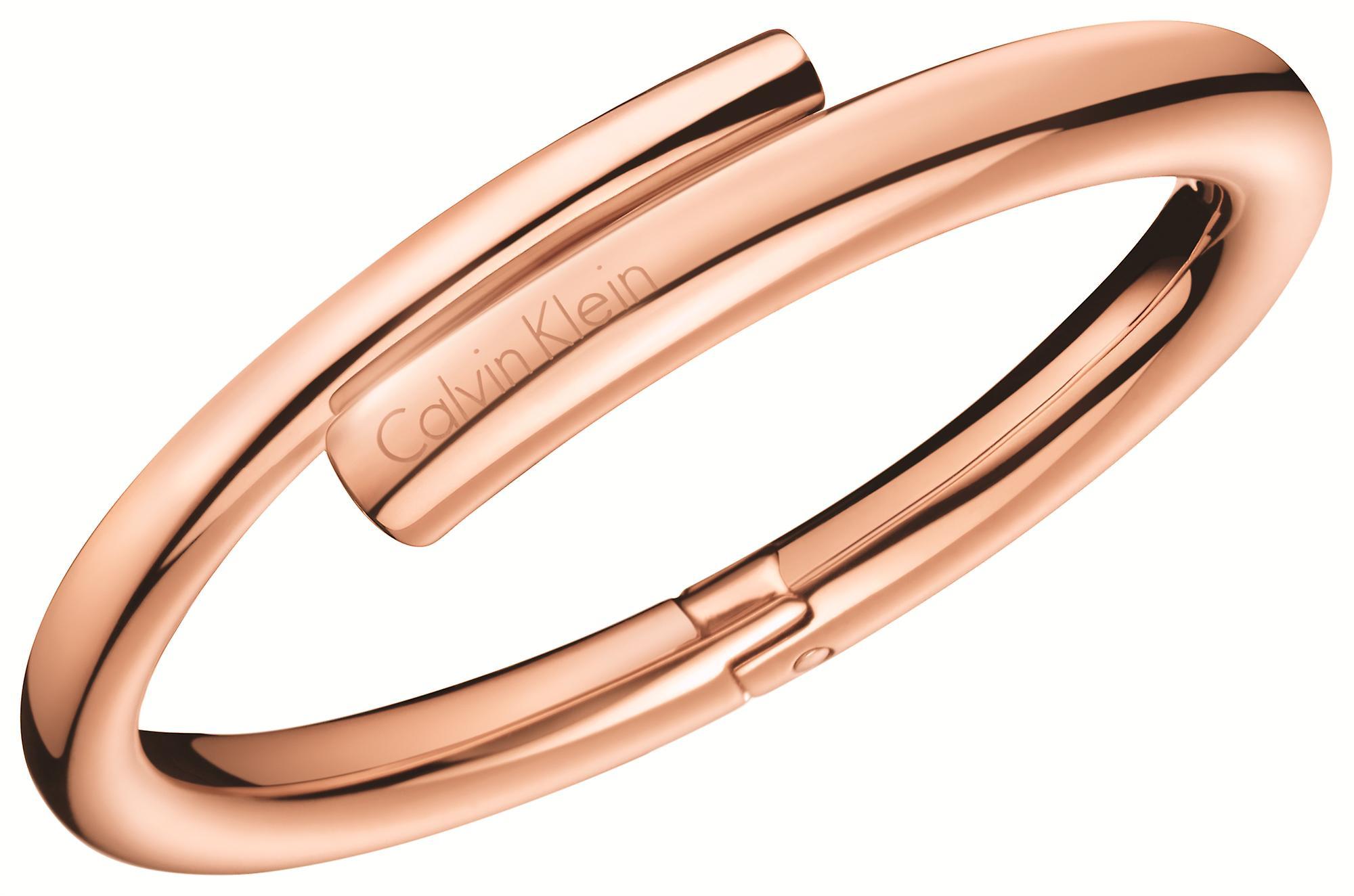 Calvin Klein Rose Gold Plated Ladies Scent Bangle KJ5GPD10010S