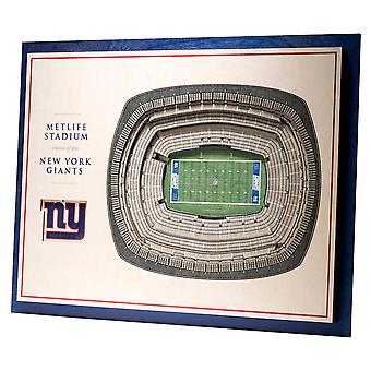 YouTheFan hout muur decoratie stadion New York Giants 43x33cm