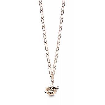 Guess GUESS KNOT UBN29014 Halskette und Anhänger - gold Stahl rosa Kette und Knoten Frau