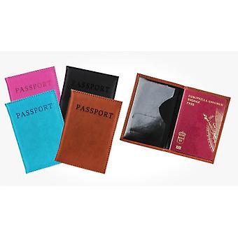 Passplånbok Passfodral Pass skydd passfodral i PU Läder
