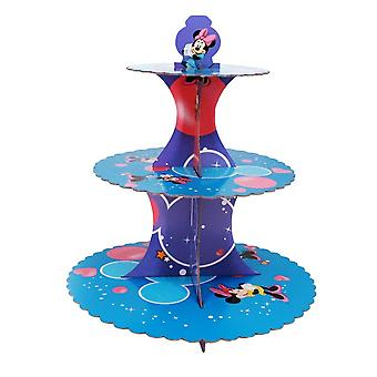 Minnie Foldable Cardboard 3-Tier Cupcake Stand