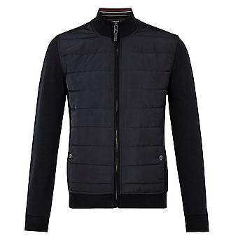 Ted Baker Mens Navy Quilted Funnel Neck Jacket