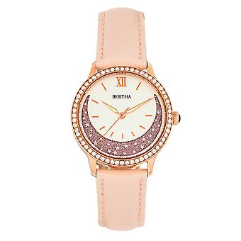 Bertha Dolly Leather-Band Watch - Light Pink