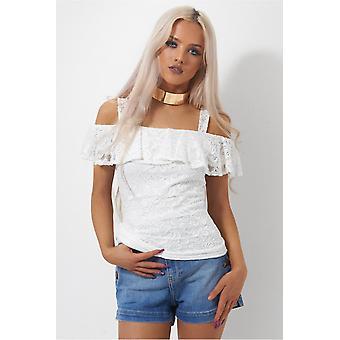 Mina Lace Bardot Top