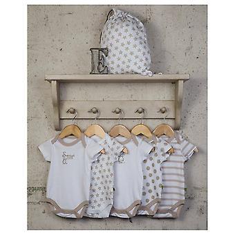 Os Trajes corporais neutros de um bebê essenciais - 5 pacote