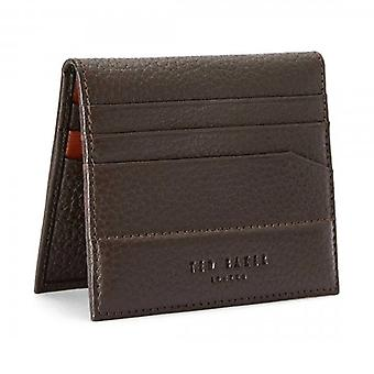 Ted Baker Steemer Chocolate Brown Leather Bi-fold Cardholder Wallet