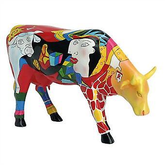 Vaca homenaje de Picowso desfile al período africano (grande)