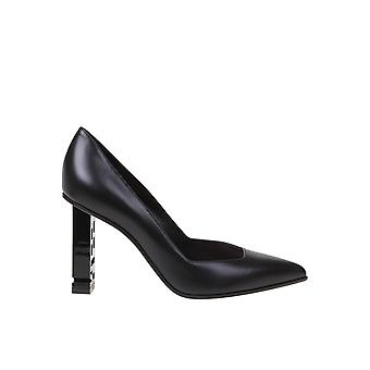 Sergio Rossi A89920magn051000 Women's Black Leather Pumps
