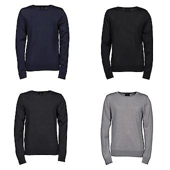 Tee Jays Mens Knitted Crew Neck Sweater