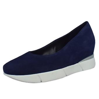 Högl 3-10 2202 Westminster Smart-casual Mid Wedge In Navy Suede