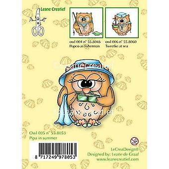 LeCrea - Clear stamp Owl Pipa in summer 55.8053