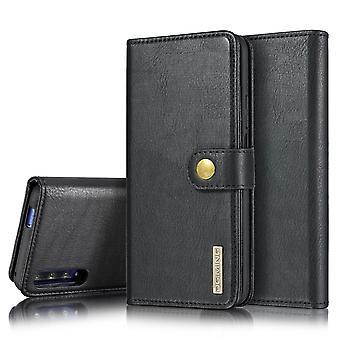 Dg. MING Huawei Honor 9X Split Leather Wallet Case - Black