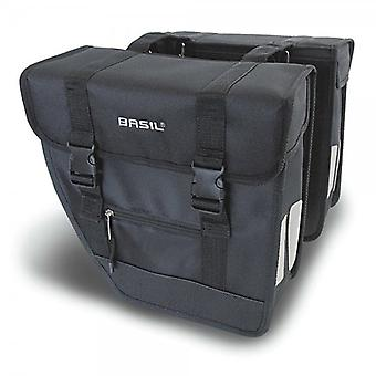 Basil Spares Panniers - Tour Rear Briefcase Double Pannier Bag Heavy Duty Black 26l